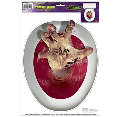 Toilettendeckeldeko Zombiehand
