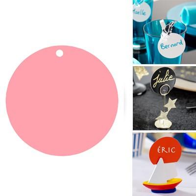 Runde Platzkarten rosa