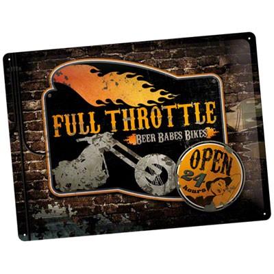 Blechschild Full Throttle