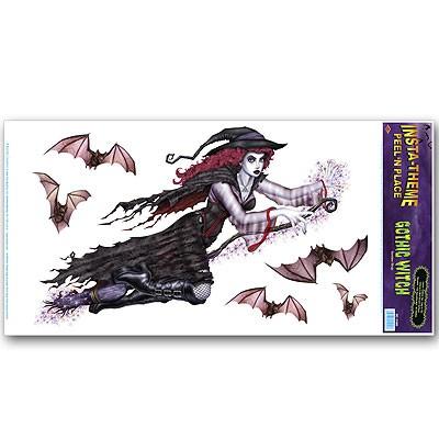 Deko-Haftbild Schwarze Hexe