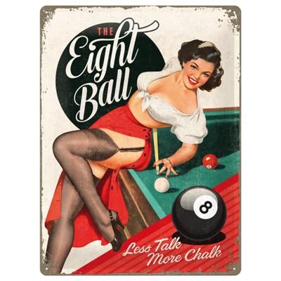 Blechschild The Eight Ball Pin Up 30x40 cm