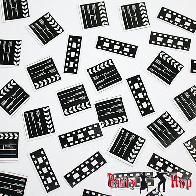 streudeko konfetti hollywood film movie party deko mottoparty. Black Bedroom Furniture Sets. Home Design Ideas