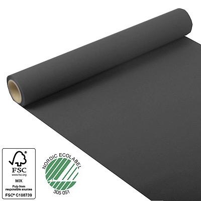 tischl ufer aus tissue schwarz 5m rolle 40cm breit party. Black Bedroom Furniture Sets. Home Design Ideas
