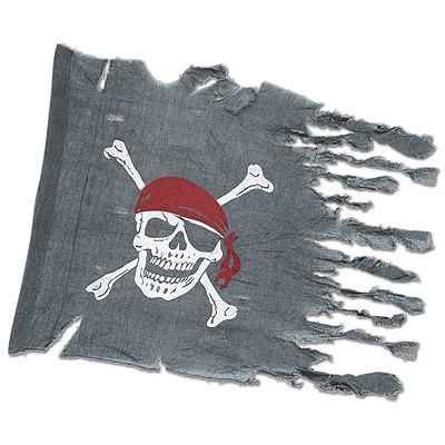 Verwitterte Piratenflagge Piratenfahne