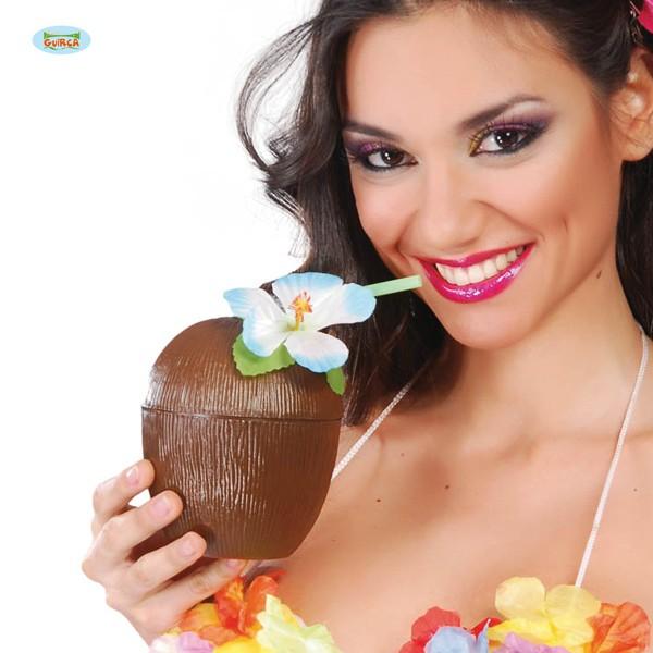 Deko-Kokosnussbecher aus Kunststoff