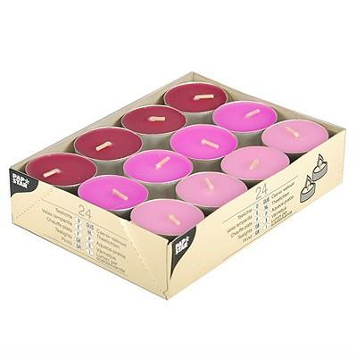 Teelichter rosa pink brombeere