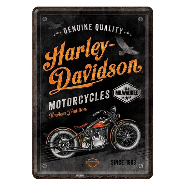 Blechpostkarte Harley-Davidson Timeless Tradition 10x14 cm