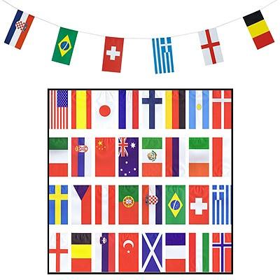 Partydeko Flaggengirlande 32 Nationen