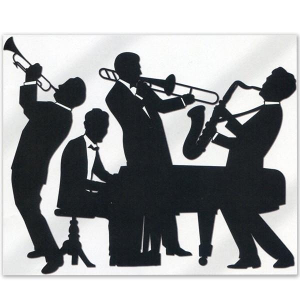 Wanddeko 20er Jahre Jazz Band Musiker