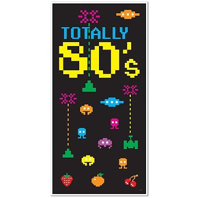 Partydeko Türposter Totally 80s 80er
