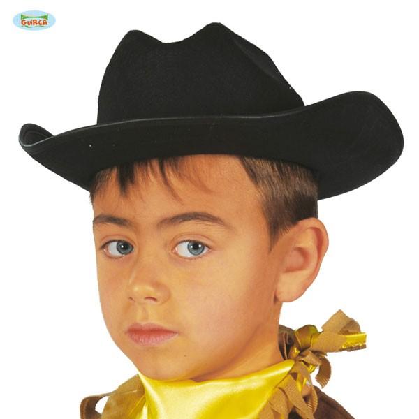 Cowboyhut schwarz Kinder