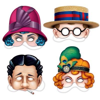 Partydeko 20er Jahre Masken