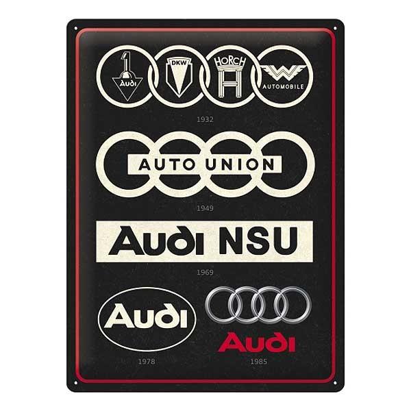 Blechschild Audi Logo Geschichte