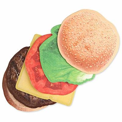 Glas-Untersetzer Burger Cheesburger Hamburger