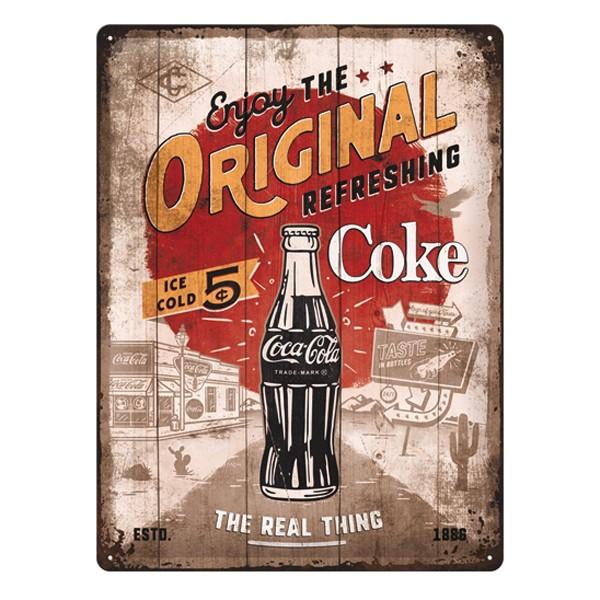 Blechschild Coca Cola Origianal Coke 30x40cm