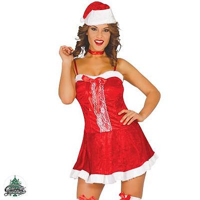 Weihnachtsfrau Kostüm Minikleid M