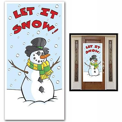 Partydeko Türposter Let It Snow
