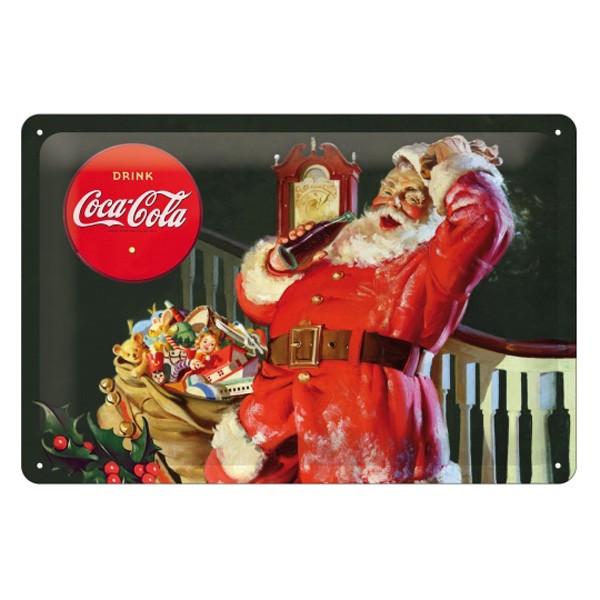 Coca Cola Weihnachtsmann Blechschild 30x20cm