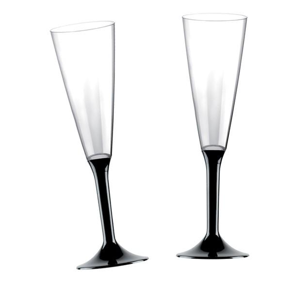 Einweg-Sektglas schwarz 160ml