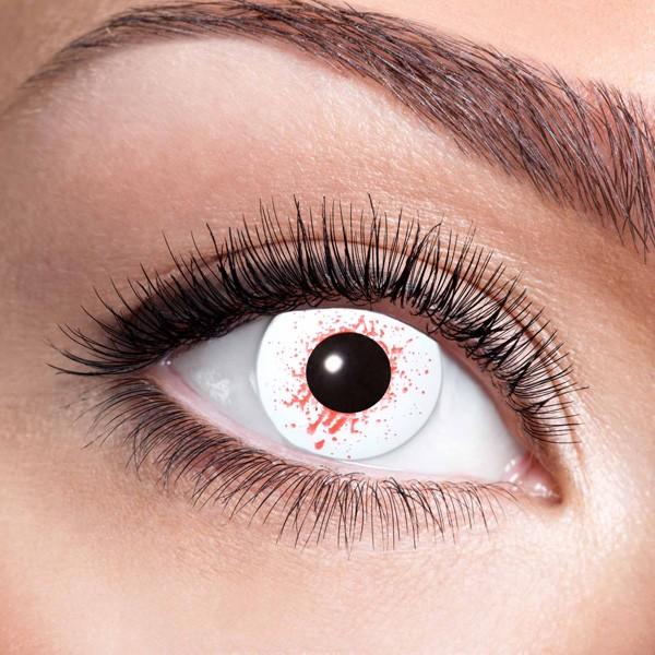 wei e kontaktlinsen bloodshot mit blutsprenklern f r. Black Bedroom Furniture Sets. Home Design Ideas