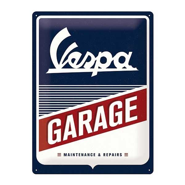 Blechschild Vespa Garage Werkstattwerbung 30x40cm