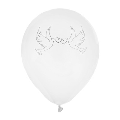 Luftballons weiß Tauben