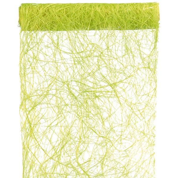 Tischläufer Abaca Bast hellgrün