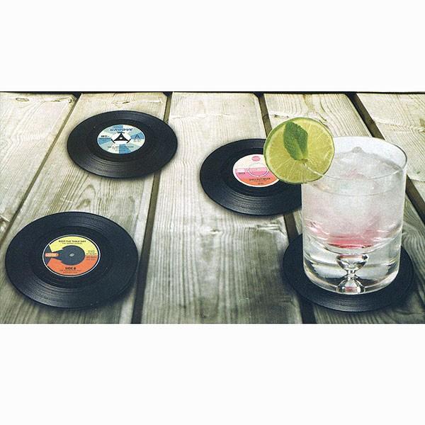 Untersetzer Vinyl Schallplatten