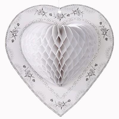 Wabendeko Weiße Herzen
