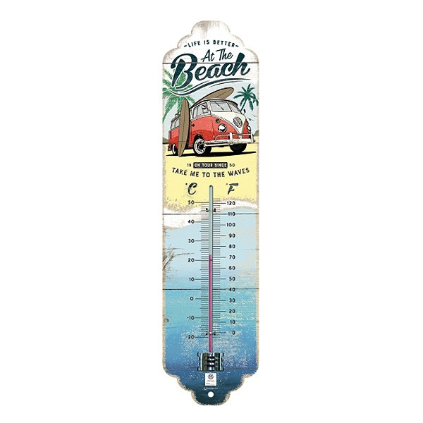 VW Bus Bulli Beach Thermometer
