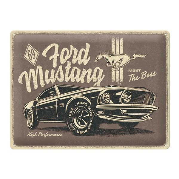 Blechschild Ford Mustang Boss 429 1969 40x30cm