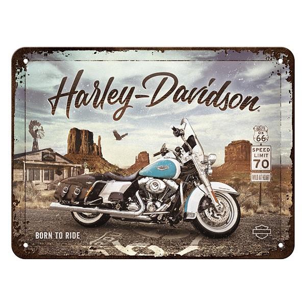 Blechschild Harley Davidson Route66 20x15