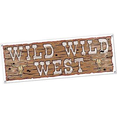 Partydeko Banner Wild Wild West