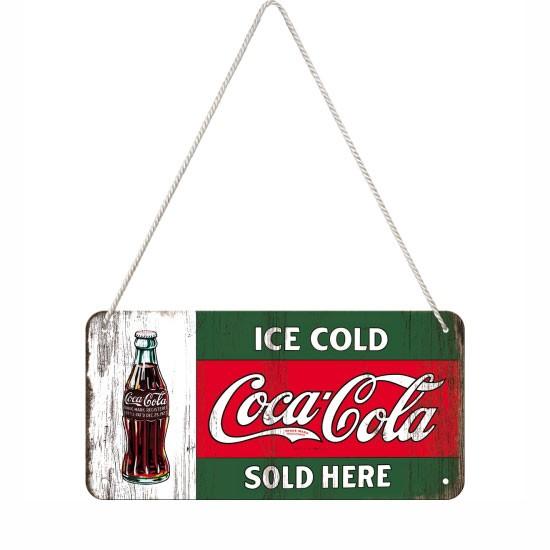 Hängeschild Coca-Cola Sold Here