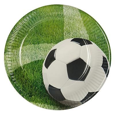 Pappteller Fußball Rasen