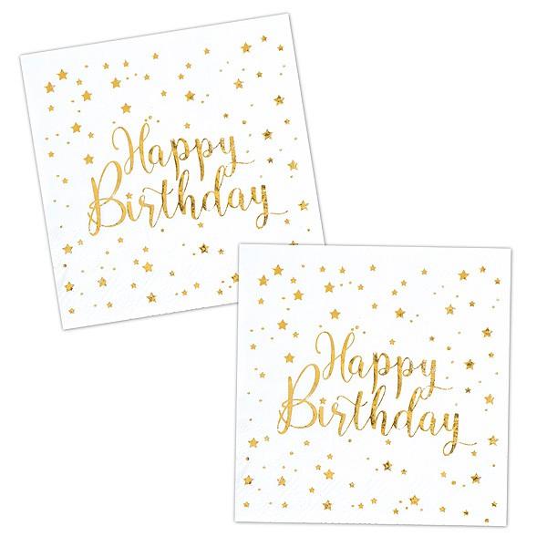 Servietten Happy Birthday gold