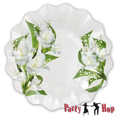 Pappteller Bouquet groß