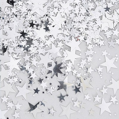Streudeko silberne Sterne