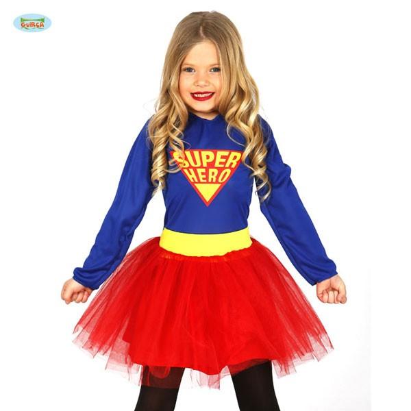 Mädchenkostüm Super Hero 7-9 Jahre
