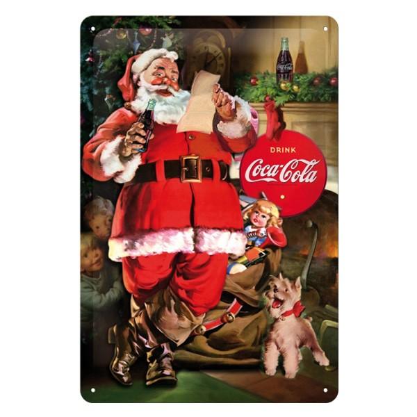 Blechschild Coca Cola Weihnachtsmann 20x30cm