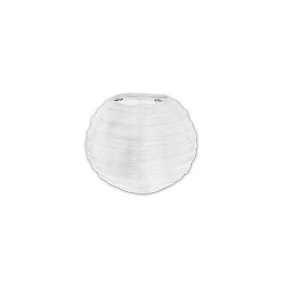 Partydeko Papierlampions weiß klein 10cm
