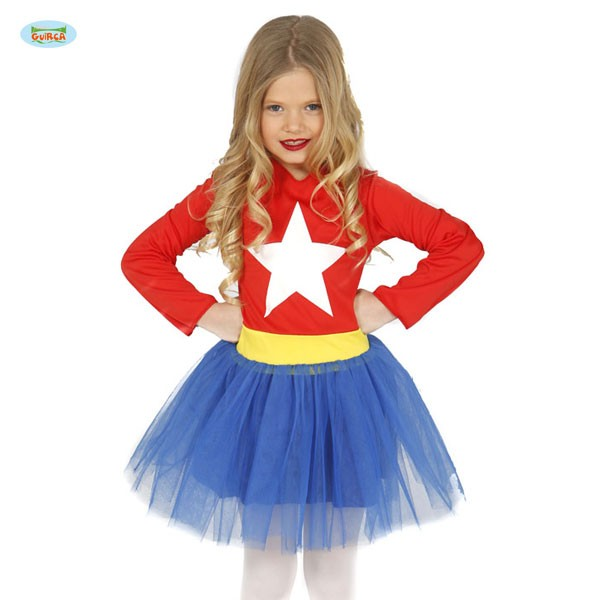 Mädchenkostüm Super Star 7-9 Jahre