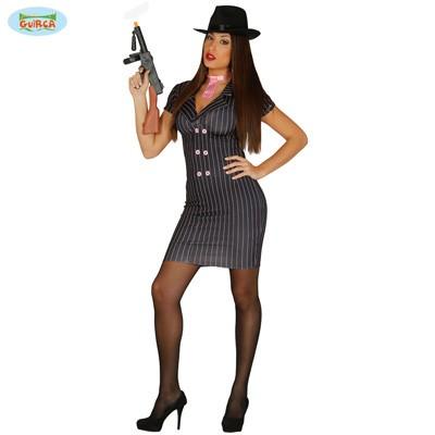 Kostüm Kleid Gangsterbraut M