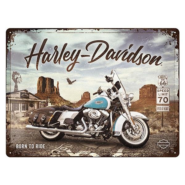 Harley Davidson Blechschild Road King 40x30