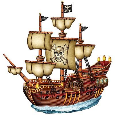 Partydeko Piratenschiff groß