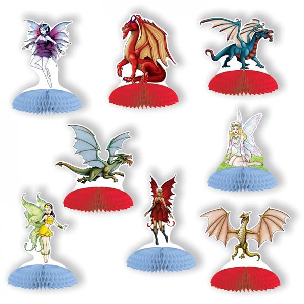 Tischaufsteller Elfen und Drachen