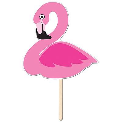 Partydeko Flamingo Schild Aufsteller F 252 R Hawaii