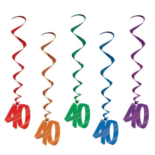 Spiralhänger 40. Geburtstag