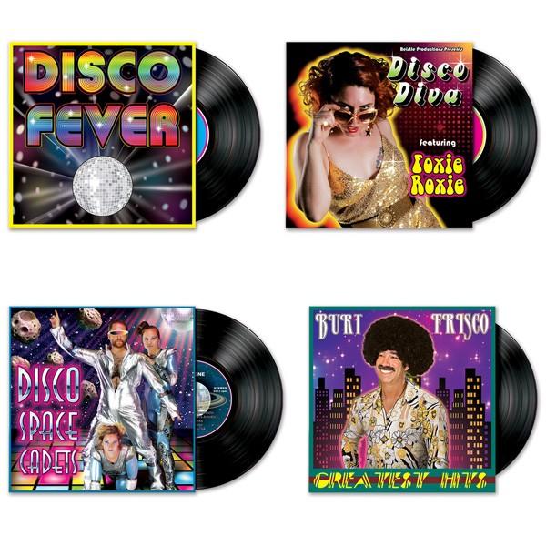 Deko-Motive Disco-Schallplatten