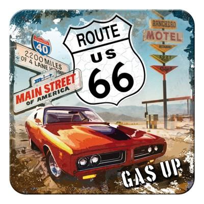 Untersetzer Route 66 Red Car